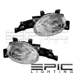1995 1999 Dodge Plymouth Neon Headlights Left Right Sides Pair