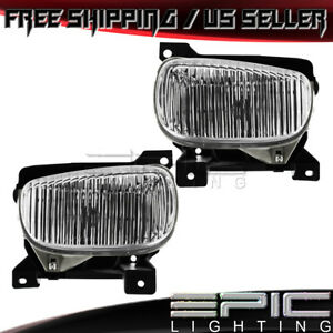 Clear Lens Fog Lights For 2000 2006 Toyota Tundra Left Right Sides Pair