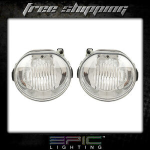 Fits 2002 04 Jeep Liberty Fog Light Lamp Pair Left And Right Set