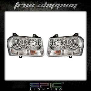 2005 2009 Chrysler 300 Non Projection Halogen Headlights Left Right Sides Pair