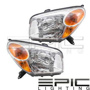 2004 2005 Toyota Rav4 Rav 4 Headlights Headlamps Left Right Sides Pair