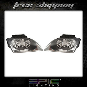 Fits 2005 06 Chrysler Pacifica Headlight Headlamp Pair Left And Right Set