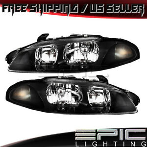 1997 1999 Mitsubishi Eclipse Headlights Headlamps Left Right Sides Pair