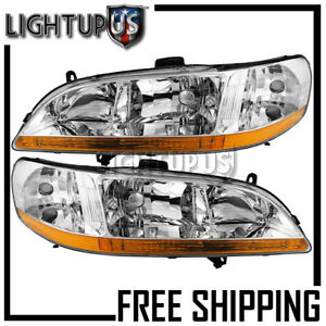 Headlights For 1998 2000 Honda Accord Coupe Left Right Sides Pair