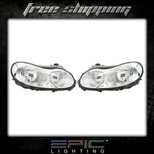 Fits 01 Chrysler Concorde Headlight Lamp Pair Left And Right Set