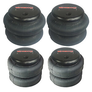 Four Air Bags 2 2500 And 2 2600 Front Rear Suspension Air Ride Lift Lower
