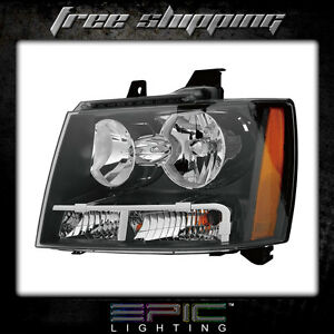 Fits 2007 13 Chevy Tahoe Suburban Avalanche Headlights Lamps Left Driver Only