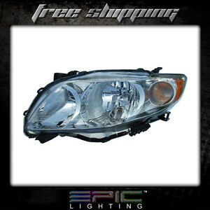 Fits 2009 10 Toyota Corolla Headlights Headlamps Left Driver Only