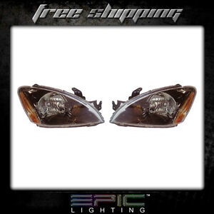 Fits 2004 07 Mitsubishi Lancer Headlights Headlamps Pair Left Right Set