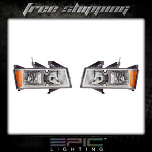 Fits 2005 08 Chevrolet Colorado Headlights Headlamps Pair Left Right Set