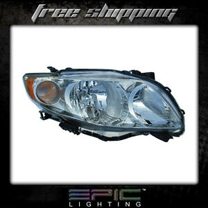 Fits 2009 10 Toyota Corolla Headlights Headlamps Right Passenger Only