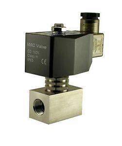 Stainless Electric Zero Differential Steam Solenoid Valve Nc 110v Ac 3 8 Inch