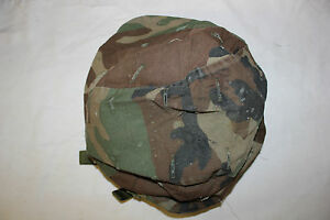 Original US MIlitary Issue Army Kevlar Combat Helmet Cover Woodland Large LOT10