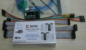 2 In 1 Xilinx Altera Fpga Cpld Usb Download Cable Jtag Platform Blaster 3 3v 5v