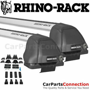 Rhino Rack Rs068 Vortex 2500 Rs Silver Roof Crossbar Kit For Mazda 3 Sedan 04 09