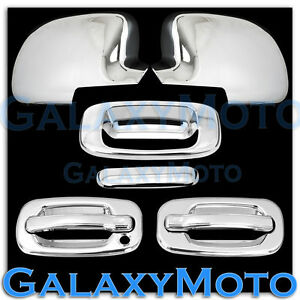 99 06 Chevy Silverado 1500 Chrome Mirror 2 Door Handle W O Psg Kh Tailgate Cover