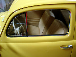 Vw Type 1 Bug 1952 1964 Oval Window Door Roll Up Glass Outer Scrapers With Trim