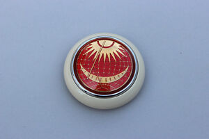 Vw Type 12 Bug Bus Petri Red Sun Moon Steering Wheel Horn Button Ivory Base