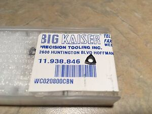 Big Kaiser 11 938 846 Cbn Tipped Carbide Insert Wc020800cbn