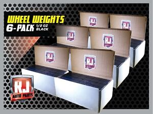 Black 1 2 Oz Stick On Adhesive Tape Wheel Weights 6 9 Lb Boxes 1728 Pieces