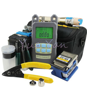 9 In 1 Fiber Optic Ftth Tool Kit Fc 6s Fiber Cleaveroptical Power Meter 5km Vfl