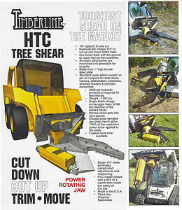 Timberline Excavator Skid Steer Tree Shear With Power Rotating