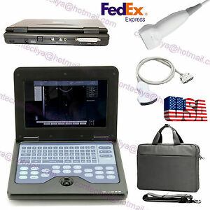 Lcd Portable Laptop Ultrasound Scanner Diagnostic Machine convex linear Probe ce