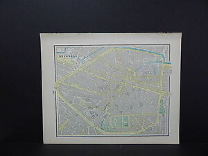 Brussels Belgium Or Berlin Map Double Sided W18 75