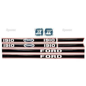 Ford 1910 Tractor Decal Set Aftermarket Replacement Hd Hood Decals Set