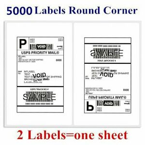5000 Round Corner Shipping Labels 2 sheet 8 5 X 5 5 Self Adhesive Usps Paypal