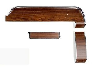 New 1968 Ford Mustang Dash Panel Trim Kit 3 Pc Set Kit Woodgrain Deluxe