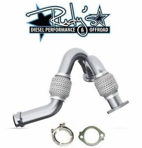 Mbrp Heavy Duty Up Pipes W Exhaust Clamp Gasket For 2003 2007 Ford 6 0l