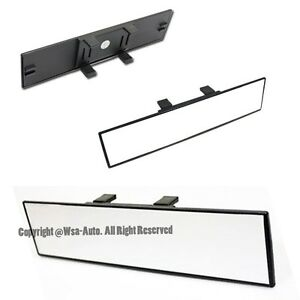 Clear 300mm Jdm Wide Flat Universal Interior Clip On Rear View Mirror Suv