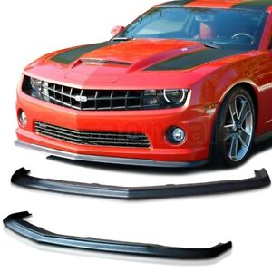 Made For 2010 2013 Chevy Camaro Ss V8 Only Slp Style Usdm Front Bumper Lip Pu