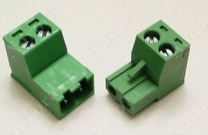 2 Pin 5mm Female Male Connector Plug Pair Terminal Block Connector Set