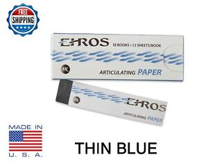 Dental Articulating Paper Thin 0 003 Blue 144 Sheets Made In Usa