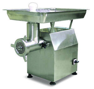 Omcan Mg cn 0032 h 32 Head 2 7 Hp Stainless Heavy duty Electric Meat Grinder