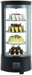 Omcan Rs cn 0072 r Countertop Glass Refrigerated Display Case For Cakes Pies