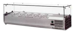 Omcan Rs cn 0004 p 48 European Topping Rail Refrigerated Pizza Prep Table Top