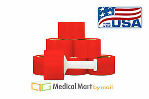3 X 1000 80 Ga Red Color Hand Stretch Wrap Banding 18 Rolls Case