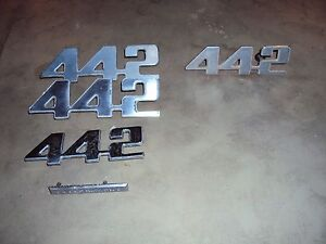 73 74 75 76 77 Oldsmobile Cutlass 442 Emblems Set Oem 5 Piece