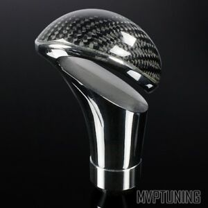 M8 M10 M12 Threaded Chrome Real Carbon Fiber F 16 Evo Style Automatic Shift Knob