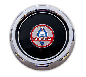 New Ford Mustang Shelby Cobra Gas Cap Chrome Twist On With Cable Gt350 Gt500