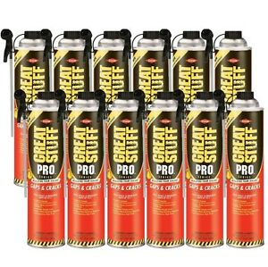 Dow Great Stuff Pro Gaps And Cracks 24 Oz Straw Foam case Of 12 341553