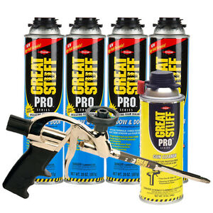 Dow Great Stuff Pro Window And Door 20oz Foam 4 Cans Pro 14 Gun Cleaner