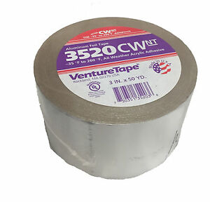 Venture Tape Hvac Aluminum Foil Tape 3 In X 150 Ft Case Of 16 3520cwa h884