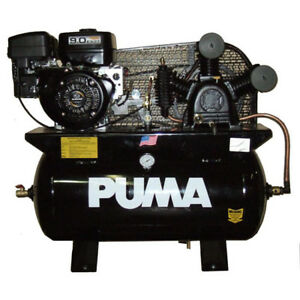 Puma Te 9030rge 9 hp 30 gallon 175 psi Gas powered Two stage Air Compresor