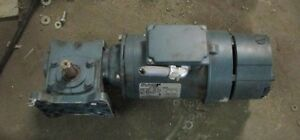 Reliance Electric Motor 3 4 Hp 1725 Rpm P56h7213p W Gear Reducer And Disc Brake
