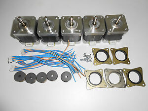 5 X Stepper Motor Nema 17 Gt2 2mm Pulley 76 Oz in Cnc Mill Robot Reprap P4v5