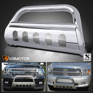 Fit 97 04 Ford F150 F250 Lightduty S S Front Bumper Bull Bar Push Grille Guard